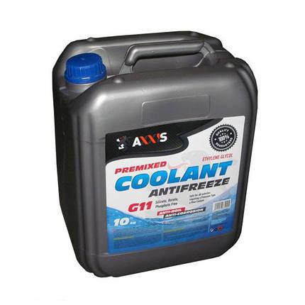 Антифриз AXXIS G11 Сoolant 48021029832 BLUE 10 кг, фото 2