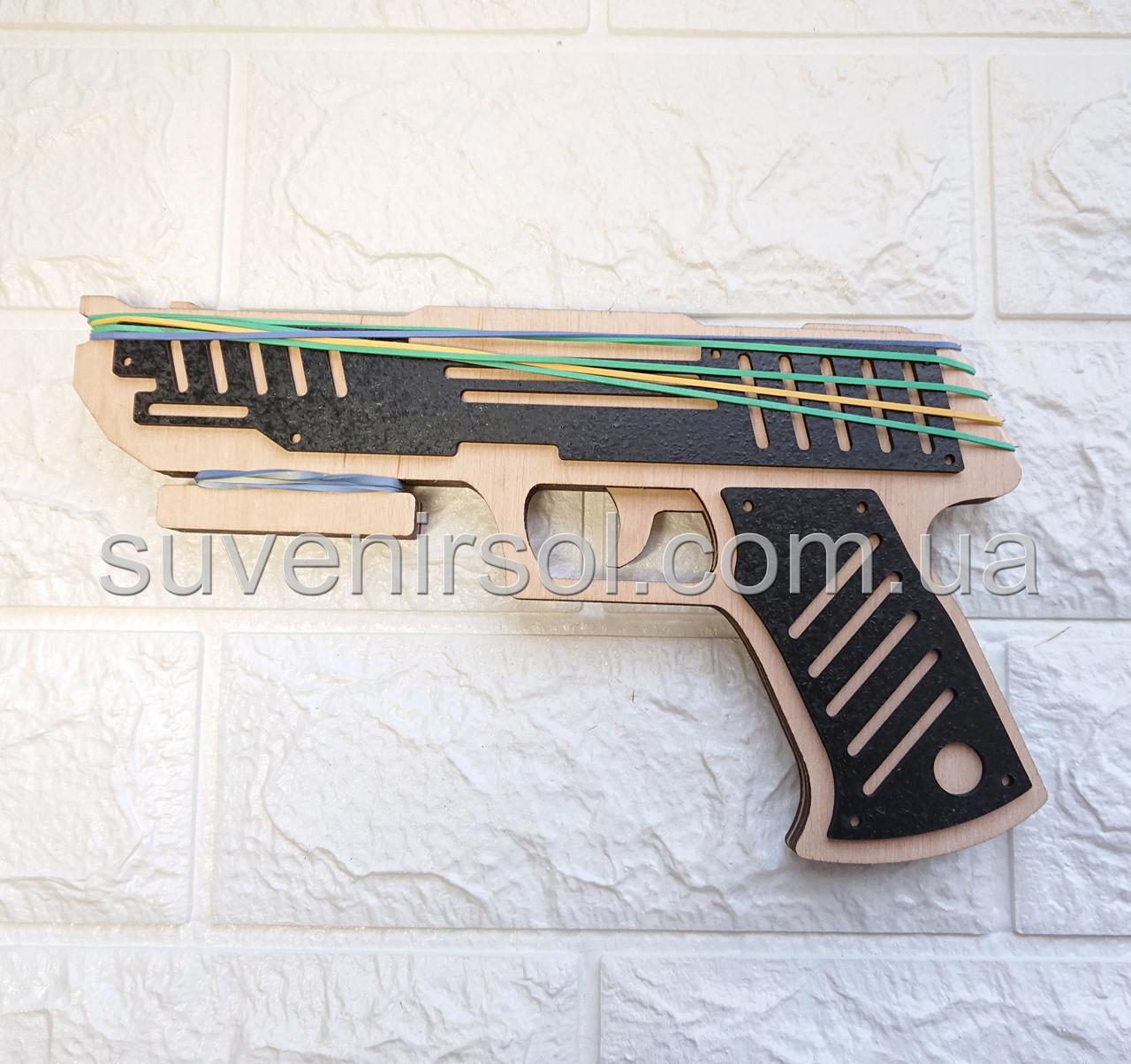 Деревянный пистолет черный №2
