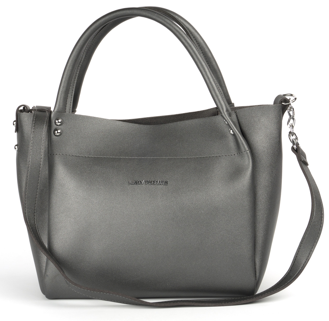 Стильная удобная качественная сумка LADY FUTURE art. 8025 серая