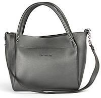 Стильная удобная качественная сумка LADY FUTURE art. 8025 серая, фото 1