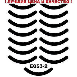 Запасные подушечки резинки в щипцы для завивки ресниц Черный, резина