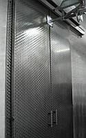 Раздвижная двустворчатая дверь для морозильной камеры из нержавеющей стали (классическая система разъезда)