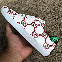 Gucci Ace Sneaker with GG Print White