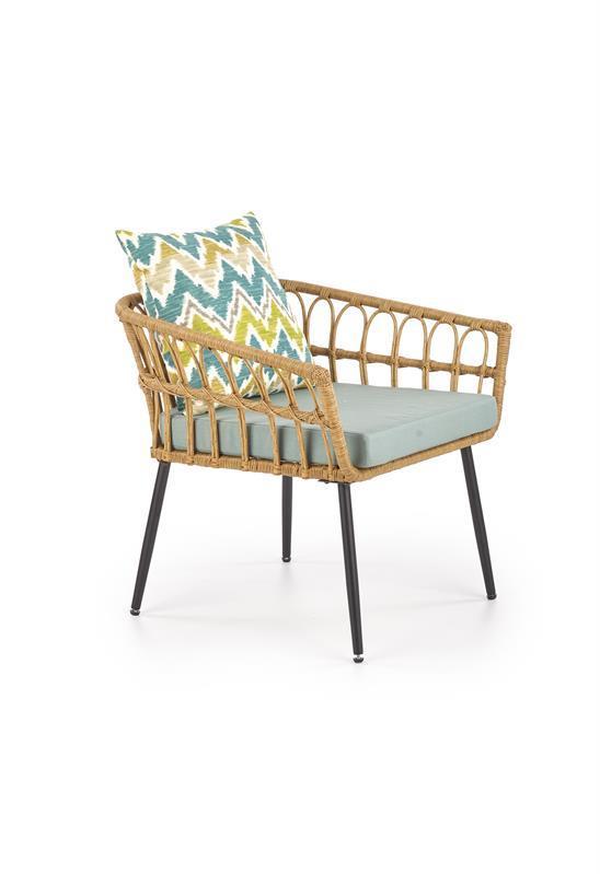 Крісло GARDENA 1S плетений натуральний (Halmar)