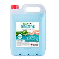 Антисептик для дезинфекции бактерицидный 5 л Alma Sept с Алое Вера