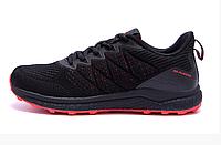 Чоловічі кросівки літні сітка BS RUNNING SYSTEM black чорні, фото 1