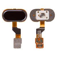 Шлейф кнопки Home Meizu M3, M3s, M3s Mini, Y685, U10, MZUH05G (версия VGS) с кнопкой, черный