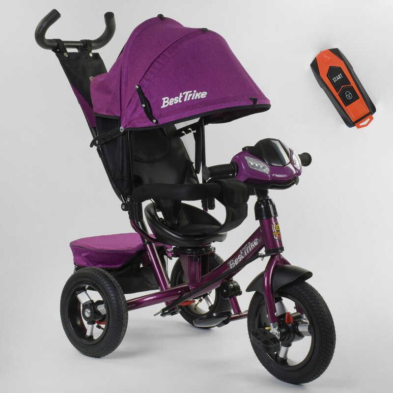 Велосипед 3-х колёсный 7700 В / 76-839 Best Trike ФАРА С USB, ПОВОРОТНОЕ СИДЕНЬЕ, НАДУВНЫЕ КОЛЕСА переднее колесо d=29см. задние d=26см, ПУЛЬТ