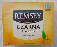 Черный чай Remsey Czarna классический 75 пакетиков Польша