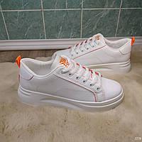 Кроссовки на платформе оранж с белым цветом эко кожа все размеры в наличии