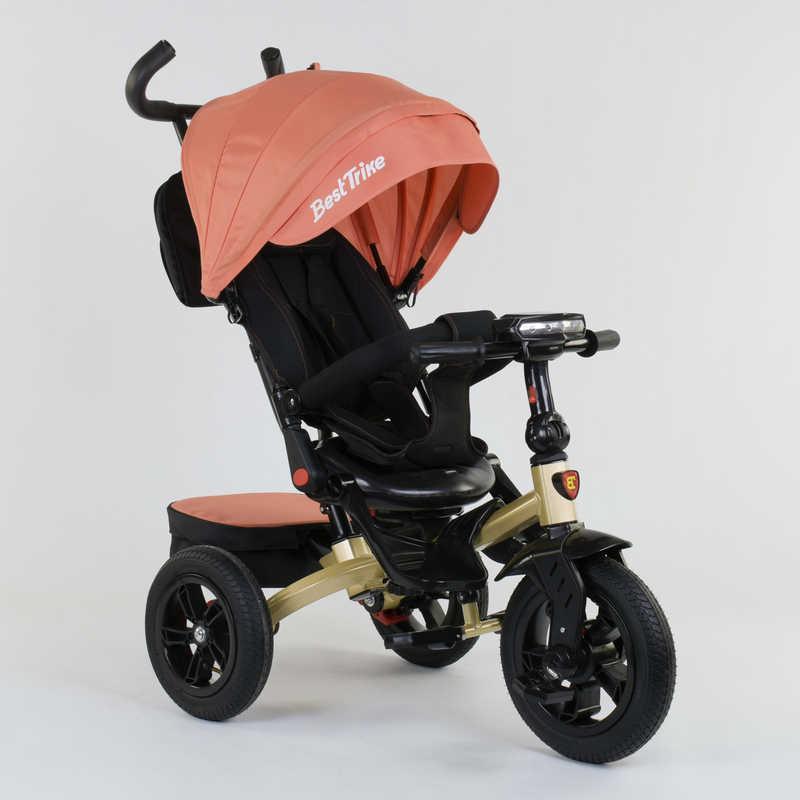 Велосипед 3-х колёсный 9500 - 9035 Best Trike ПОВОРОТНОЕ СИДЕНЬЕ, СКЛАДНОЙ РУЛЬ, РУССКОЕ ОЗВУЧИВАНИЕ, СВЕТ, НАДУВНЫЕ КОЛЕСА