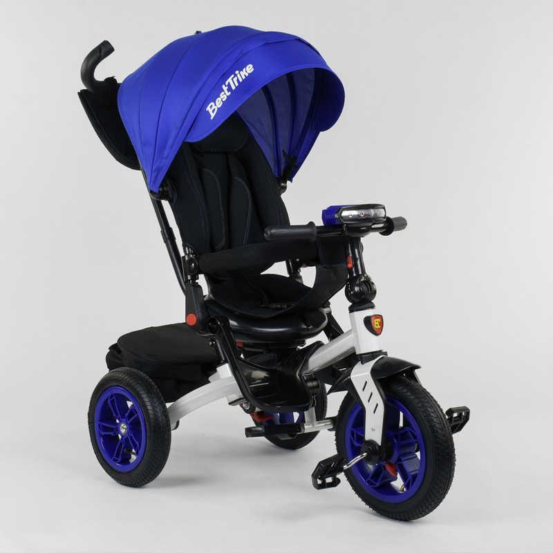 Велосипед 3-х колёсный 9500 - 9070 Best Trike ПОВОРОТНОЕ СИДЕНЬЕ, СКЛАДНОЙ РУЛЬ, РУССКОЕ ОЗВУЧИВАНИЕ, СВЕТ, НАДУВНЫЕ КОЛЕСА