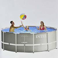 Intex Бассейн каркасный 26718 FR 366х122 см от 6-ти лет, 10685л