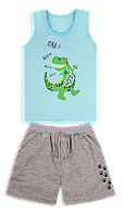 Летний детский костюм для мальчика *Технозавр*
