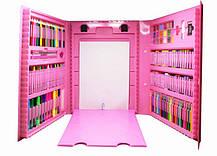 Набор для детского творчества в чемодане из 208 предметов Розовый, фото 2