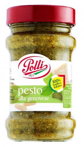 Соус Polli Pesto Alla Genovese Senza Aglio, 190 мл, фото 2