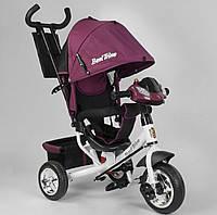 """Детский велосипед трёхколёсный 6588-28-549  """"Best Trike"""", с ручкой, ФАРА, дитячий велосипед ровер"""