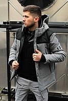 Куртка весенняя LC ALLEN (серо-черный)