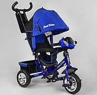 """Детский велосипед трёхколёсный 6588-25-988  """"Best Trike"""", с ручкой, ФАРА, дитячий велосипед ровер"""
