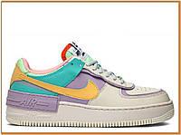 Жіночі кросівки найк аір форс шадов, різнокольорові / Nike Air Force 1 Shadow Pale Ivory