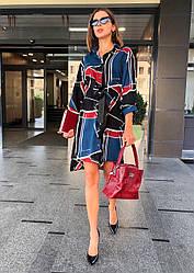 Сукня-сорочка, тканина: вельвет. Розмір: З(42-44)М(44-46). Різні кольори (1158)
