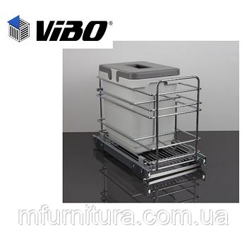 Сортер для мусора с доводчиком (модуль 300 мм)(1 ведро)(15л) - VIBO (Италия)