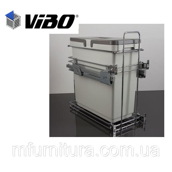 Сортер для мусора с доводчиком (модуль 300 мм)(1 ведро)(33л) - VIBO (Италия)
