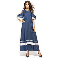 Платье женское летнее большого размера цвет индиго