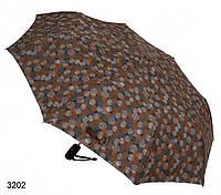 Женский зонт полуавтомат темный мелкие круги