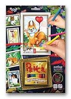 Раскраска по номерам детская, с карандашами, PBN-01-06