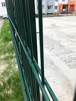 Секция ограждения длиной 2500 мм из сварной сетки 3D, ДУОС Економ цинк/полимер, 5/4/5 мм, PROMZABOR, Украина