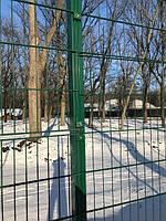 Секция ограждения длиной 2000 мм из сварной сетки 3D, ДУОС Економ цинк/полимер, 5/4/5 мм, PROMZABOR, Украина