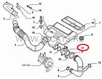 Расходомер воздуха 1.3MJTD Fiat Doblo 2004-2005