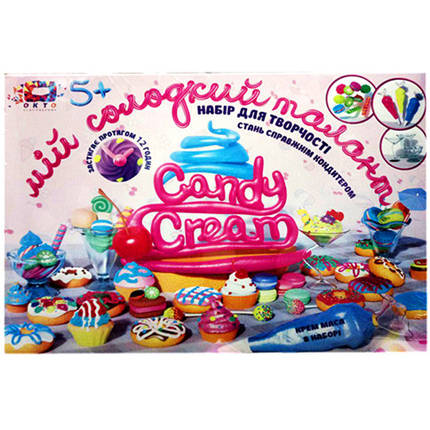 Набор для творчества ТМ Candy cream Мой сладкий талант / Пластилин / Набор для творчества / Тесто для лепки, фото 2