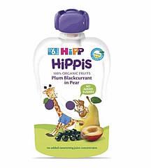 Пюре фруктове органік груша,слива,смородина HiPP (Хіпп) 100 гр з 4 місяців