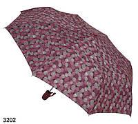 Женский зонт полуавтомат мелкие круги розовый