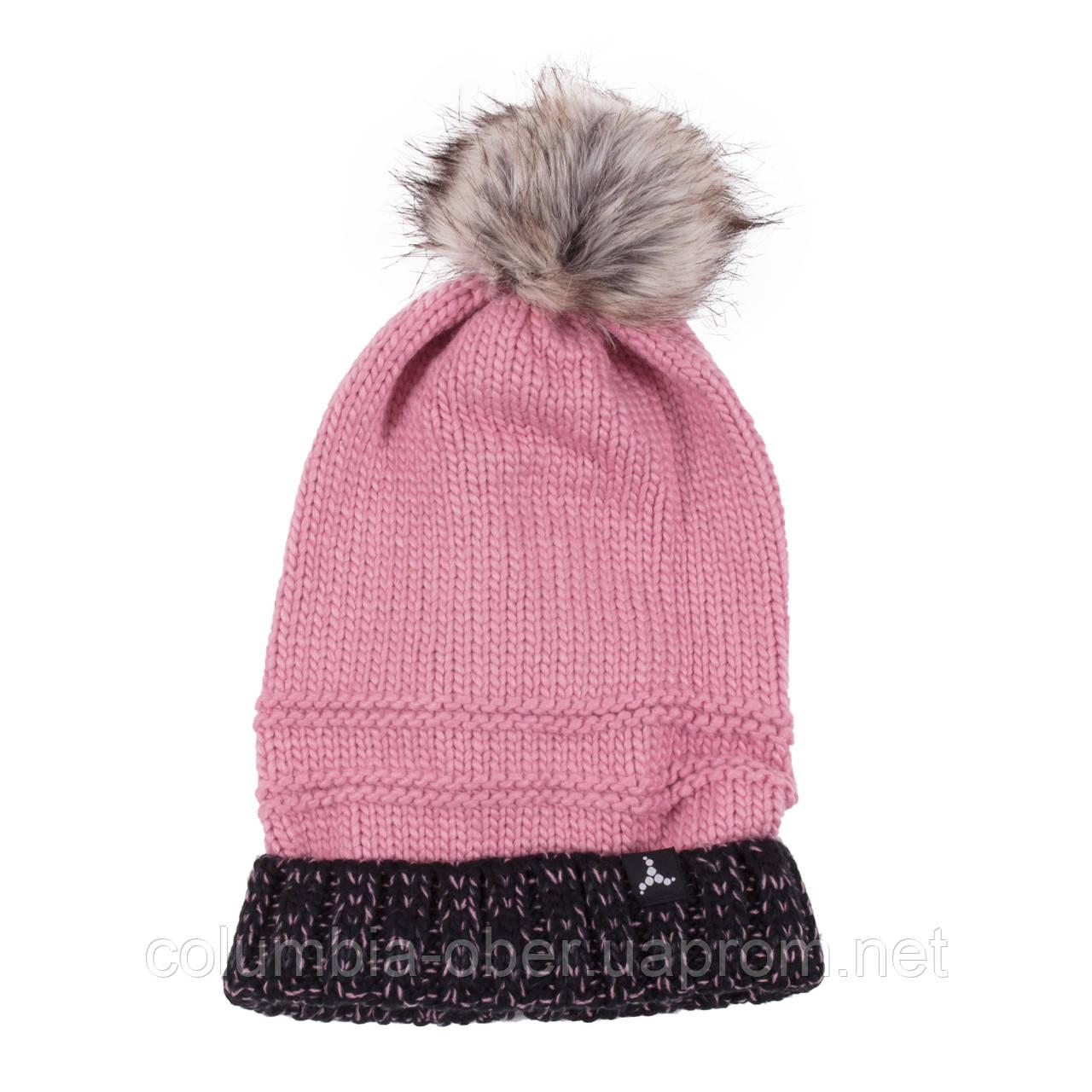 Зимняя детская шапка для девочки SNO F19TU314AF Camelia Pink. Размер 54/56.