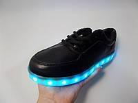 Женские LED кроссовки с подсветкой Черный
