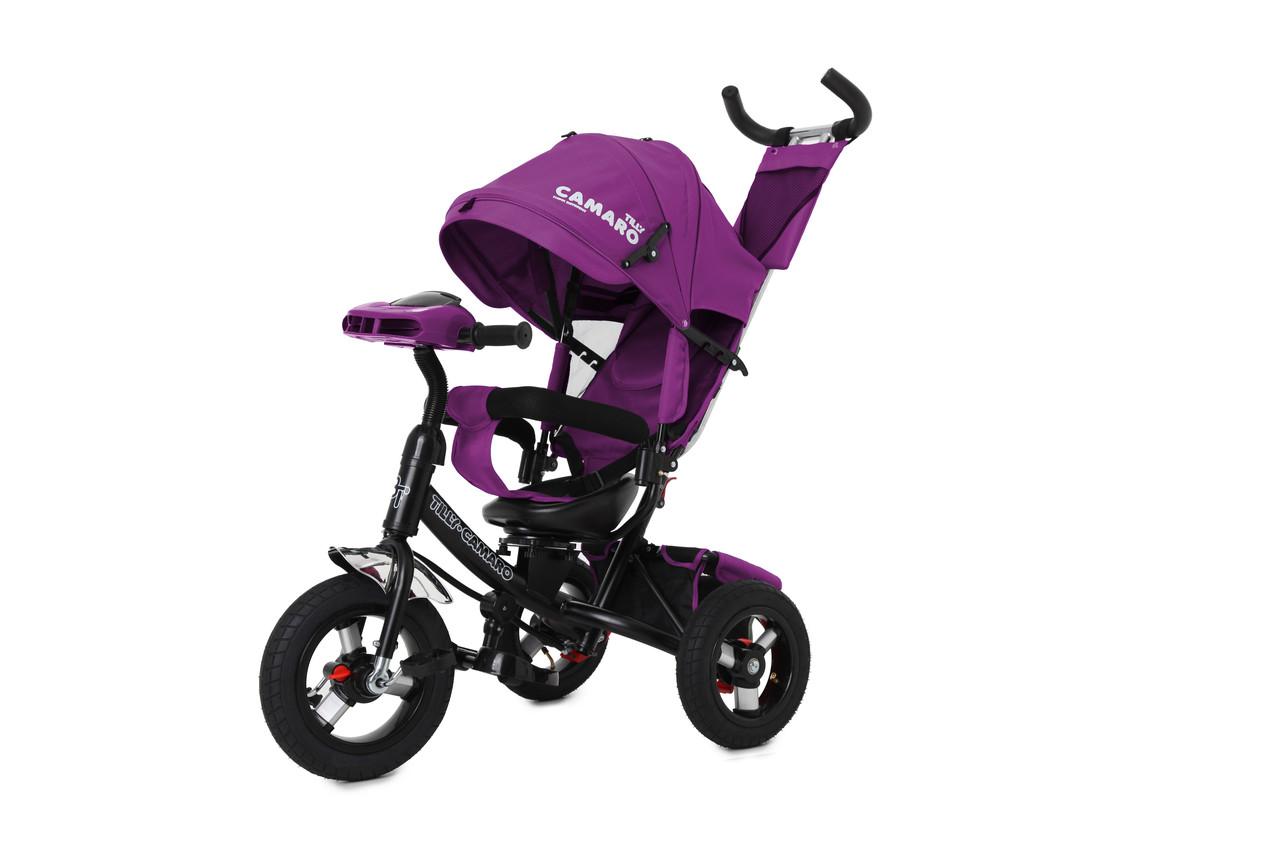 Детский трехколесный велосипед-коляска CAMARO T-362/1 фиолетовый