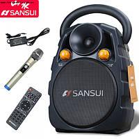 Портативная Колонка SS3-06 мобильная с радиомикрофоном MEGA-BASS (Sansui), фото 1