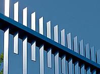 Забор из профильной трубы, секционный забор из труб, забор оцинкованный, фото 1