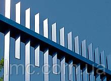 Забор из профильной трубы, секционный забор из труб, забор оцинкованный