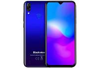 """Смартфон со сканером отпечатков пальцев и большим безрамочным экраном 6,1"""" 3/16Gb Blackview A60 Pro синий"""