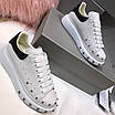 Кроссовки белые Alexander McQueen, фото 4