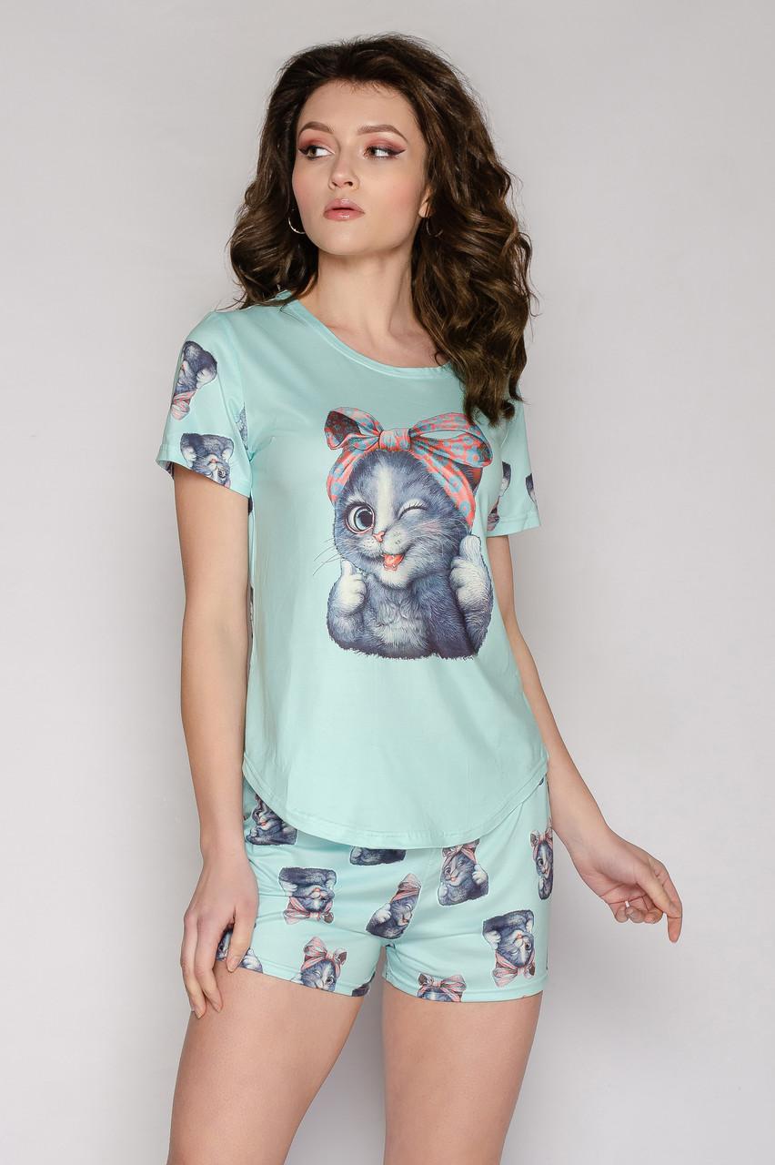 Молодежная пижама кошка 04-5