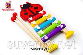 Музичний ксилофон дерев'яний дитячий