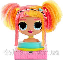 L. O. L. Surprise ЛОЛ ОМГ Леді Неон Голова манекен для зачісок MGA O. M. G. Styling Head Neonlicious