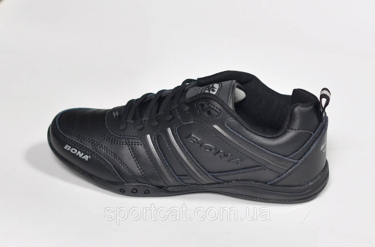 Женские кроссовки Bona, кожаные, черные