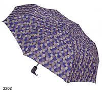 Женский зонт полуавтомат мелкие круги синий сиреневый