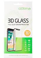 Защитное стекло for Xiaomi Redmi Note 8 черное (Optima 3D)